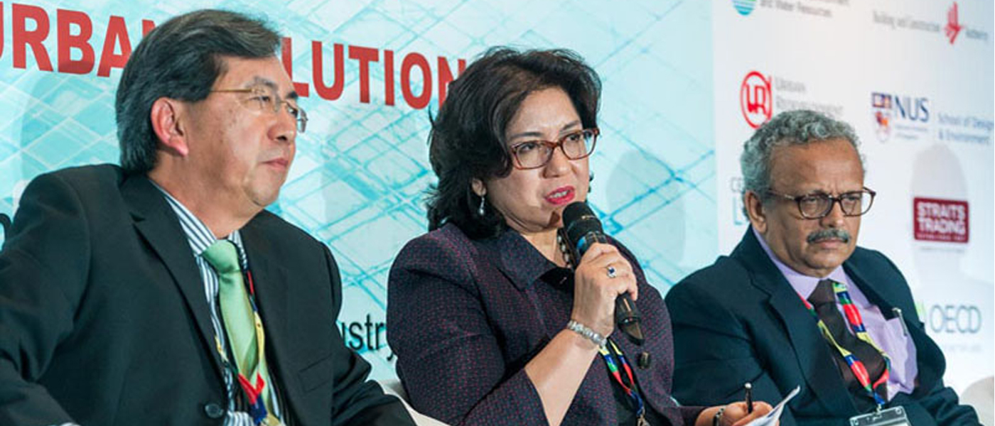 Assoc. Prof. Mely Caballero-Anthony, Head of the Centre for Non-Traditional Security (NTS) Studies, RSIS, contributes the NTS perspective on civic engagement driving urban solutions at the 4th Singapore Sustainability Symposium