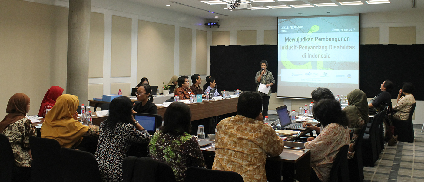 "Focus Group Discussion ""Shaping a Disability-Inclusive Development in Indonesia"""
