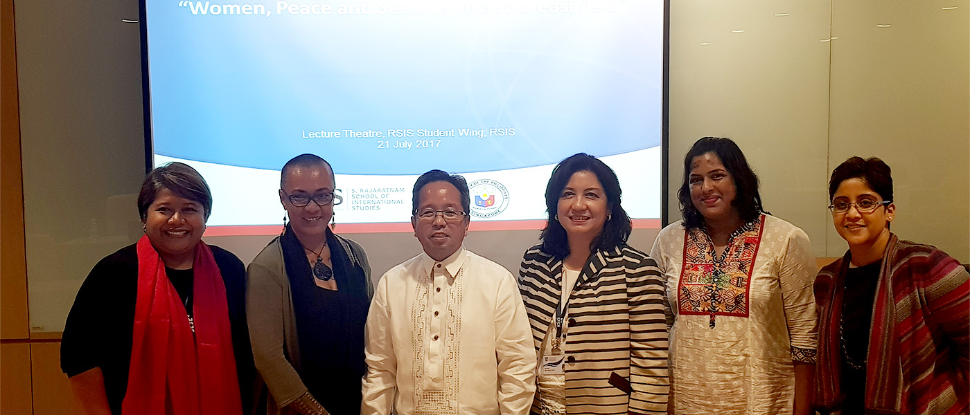 "RSIS-Embassy of the Philippines Panel Discussion "" Women, Peace and Security in Southeast Asia"""