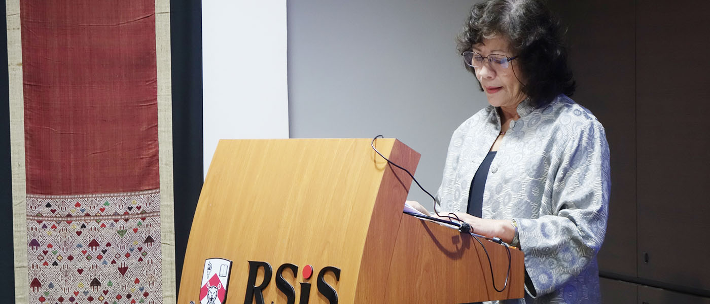 RSIS Seminar by Dr Noeleen Heyzer,Distinguished Visiting Fellow,RSIS; and Former Under-Secretary-General of the United Nations (2007-2015)