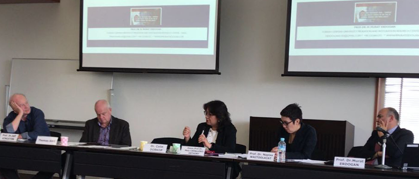 "NTS Head Assoc Prof Mely Caballero Anthony speaking on migration challenges in Southeast Asia at the International Workshop on ""Japan and Southeast Asia: Current Foreign Policy Issues in the Era of Global Change and Challenges"" held at the Centre for Southeast Asian Studies ( CSEAS),Kyoto University on 29 June 2018."