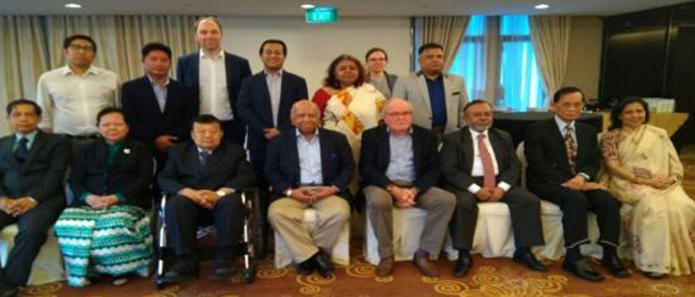 President BIPSS, Maj Gen Muniruzzaman (Retd), attended a Track 2 Dialogue in Singapore with Myanmar on the Rohingya issue.
