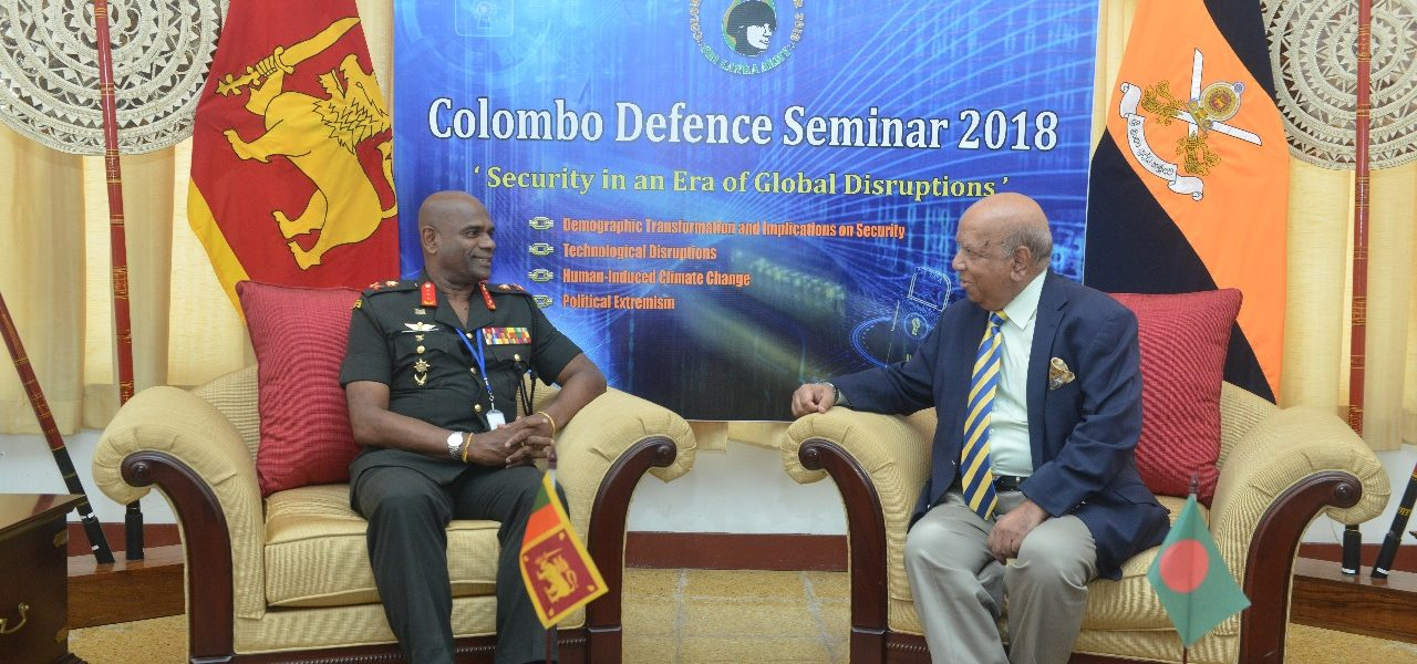 President BIPSS Maj Gen Muniruzzaman (Retd) was invited by the Commander of Sri Lanka Army as a Guest Speaker in the Colombo Defence Seminar 2018.