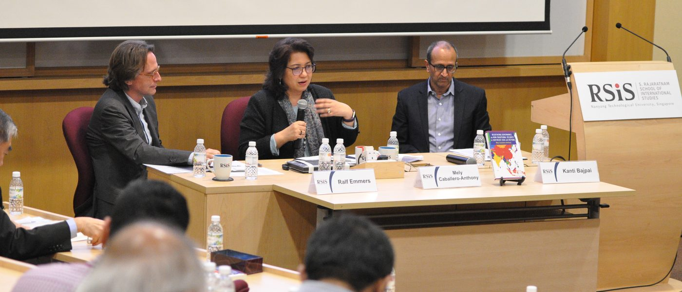 RSIS organised a book launch seminar on Negotiating Governance on Non-Traditional Security in Southeast Asia and Beyond, authored by Dr Mely Caballero-Anthony, Professor of International Relations and Head of the RSIS Centre for Non-Traditional Security (NTS) Studies.