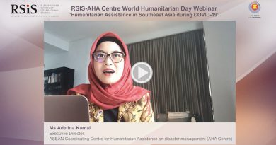 """RSIS-AHA Centre World Humanitarian Day Webinar on """"Humanitarian Assistance in Southeast Asia during COVID-19"""""""