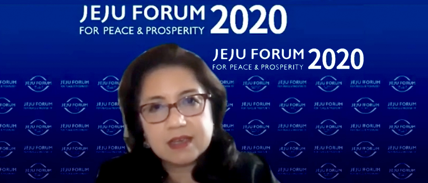 Jeju Peace Forum on 5 November 2020