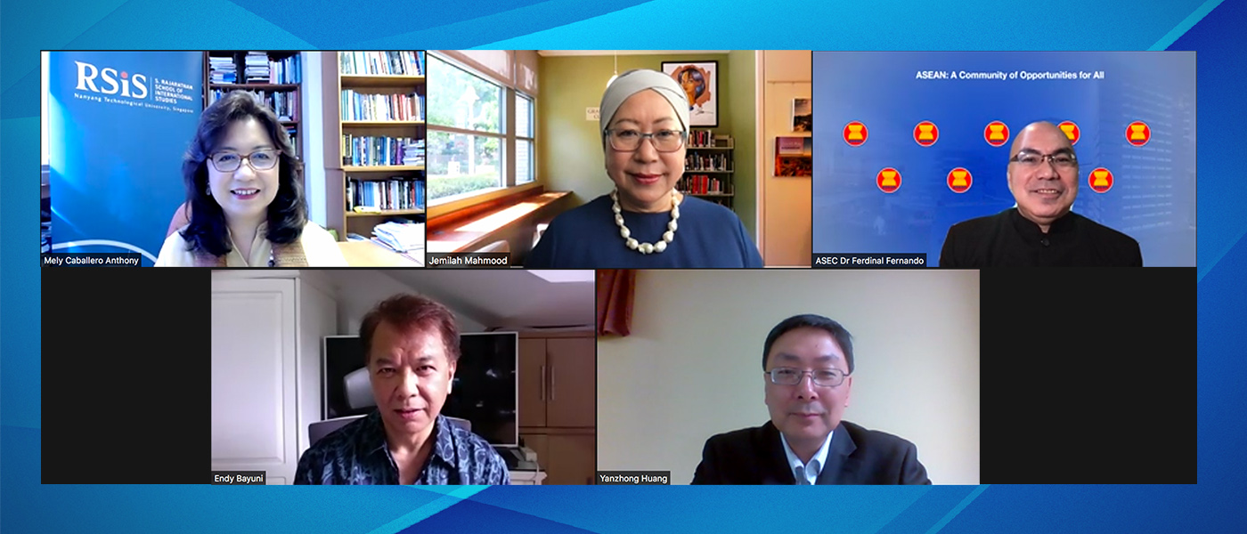 "The RSIS NTS Centre held a virtual Roundtable on ""COVID-19 in Asia: Reflections One Year On"" on 19 March 2021."