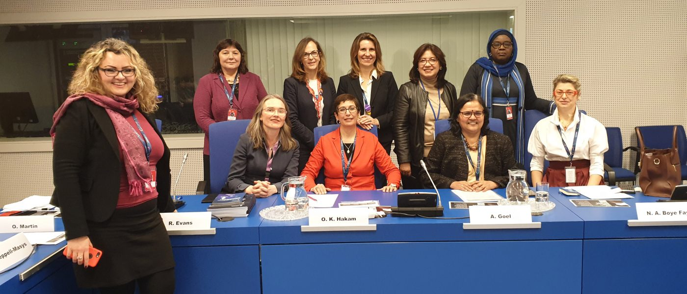 Prof Mely Caballero-Anthony, Head of NTS Centre, speaking on the panel on Women in Nuclear Security at the International Conference on Nuclear Security at the International Atomic Energy Agency in Vienna, Austria, 12 February 2020.