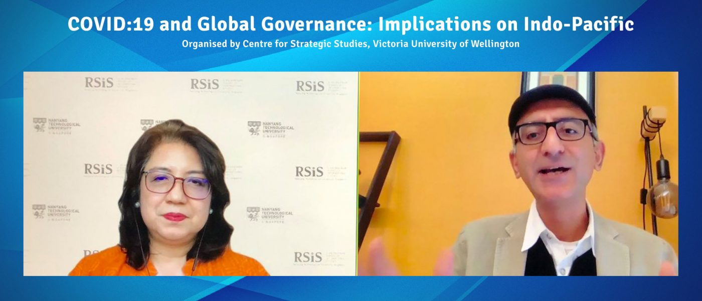 """Head of Centre, Prof Mely Caballero-Anthony gave webinar on """" COVID:19 and Global Governance: Implications on Indo-Pacific""""…"""